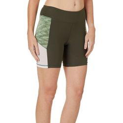 NYL Sport Womens Space Dye Mesh Panel Bike Shorts