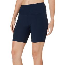 NYL Sport Womens Solid Tummy Control Bike Shorts