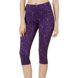 RB3 Active Womens High Waist Graphic Dot Capri Leggings