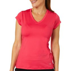 Etonic Womens Solid V-Neck T-Shirt