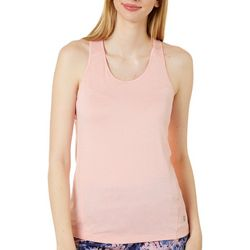 RB3 Active Womens Solid Mesh Panel Tank Top