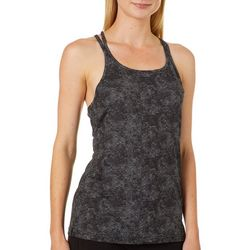 RB3 Active Womens Dot Print Racerback Tank Top
