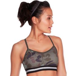 Skechers Womens Camo Floral Sports Bra
