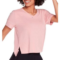 Skechers Womens Unpack Solid Slit Hem T-Shirt