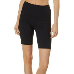 Skechers Womens Go Walk Side Pocket Solid Bike Shorts
