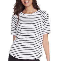 Skechers Womens Road Trip Striped Short Sleeve T-Shirt