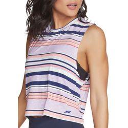Skechers Womens Striped Sun Kissed Tank Top