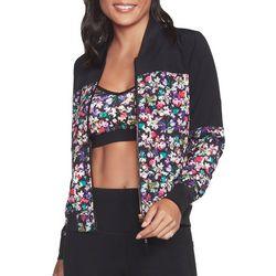 Skechers Womens Floral Bomber Jacket