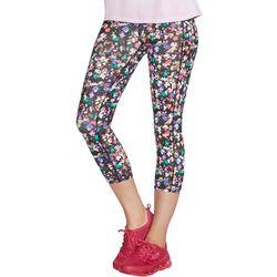 Skechers Womens Floral Print Midcalf Capri Leggings