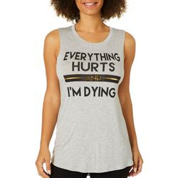 Miken Womens Everything Hurts High-Low Tank Top