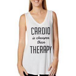 Miken Womens Cardio Is Cheaper Than Therapy Tank Top