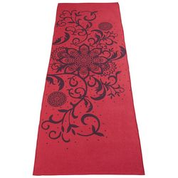 Great Bay Home Floral Wisp Print Yoga Towel