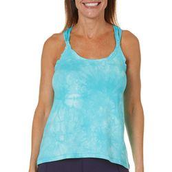 Earth Yoga Womens Tie Dye Braided Racerback Tank Top
