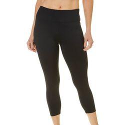 Earth Yoga Womens Solid Capri Leggings