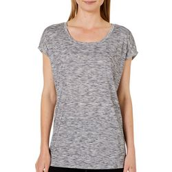 Marika Womens Heathered Cap Sleeve Top