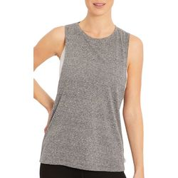 Marika Womens Charlie Heathered Open Back Tank Top