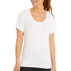 Marika Womens Blaze Solid Short Sleeve Top