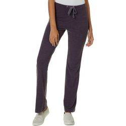 FUDA Womens Solid Heathered Drawstring Pants