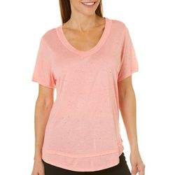Life Worx by Gloria Vanderbilt Womens Speckle Dot T-Shirt