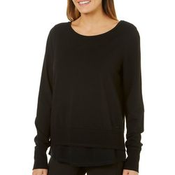Nanette Lepore Womens Lace Me Up Back Solid Tunic Top