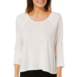 Nanette Lepore Womens Heathered Animal Panel Swing Top