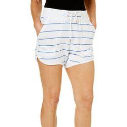 Nanette Lepore Womens Striped Dolphin Hem Shorts