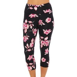 Love. Life. Live Womens Floral Print Capri Leggings