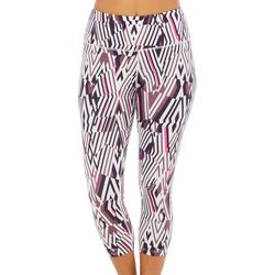 Love. Life. Live Womens Geo Diamond Print Capri Leggings