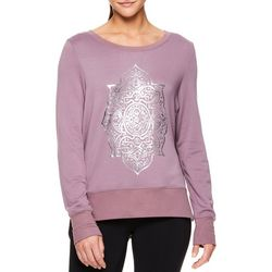 356210dedbb Gaiam Womens Medallion Nirvana Long Sleeve Top