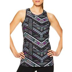 Gaiam Womens Shilo Chevron Print Sports Bra Tank Top