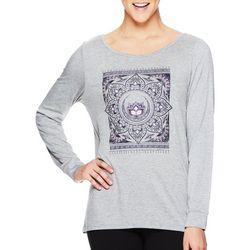 Gaiam Womens Hailey Tapestry Screen Print Top