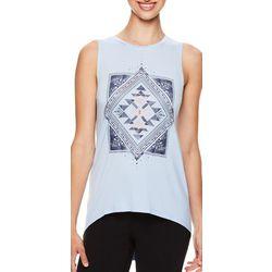 Gaiam Womens Diamond Geometric Print Tank Top