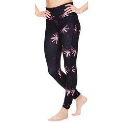 Gaiam Womens Kylie Floral Print High Rise Leggings
