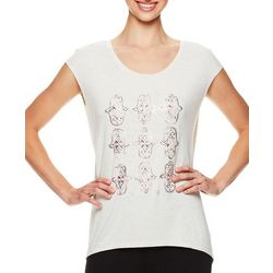 Gaiam Womens Dani Hamsa Screen Print Top