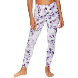 Gaiam Womens OM Raindrop Print High Rise Capri Leggings