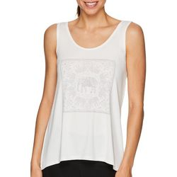 Gaiam Womens Harmony Elephant Graphic Tank Top
