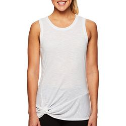 Gaiam Womens Solid Twist Front Tank Top