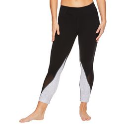 Gaiam Womens Karma Jamie Colorblock Print High Rise Leggings