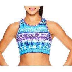 Gaiam Womens Diamond Tie Dye Print Sports Bra