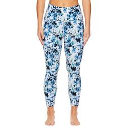 Gaiam Womens OM Watercolor Floral Hi-Rise Capri Leggings