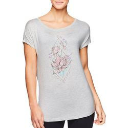 Gaiam Womens Intention Heathered Graphic Top