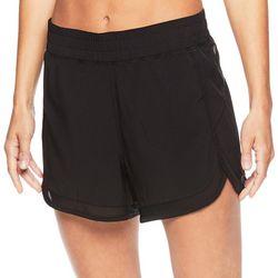 Gaiam Womens Solid Mesh Trim Woven Shorts