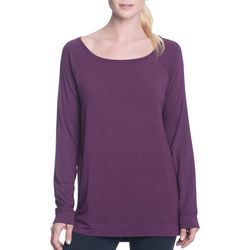 Gaiam Womens Ruby Heathered Tunic Top