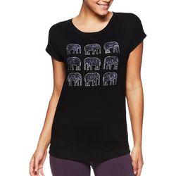 Gaiam Womens Intention Elephant Screen Print Top