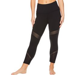 Gaiam Womens High Rise Mesh Detail Leggings