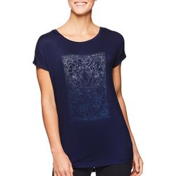 Gaiam Womens Live Freely Love Deeply Screen Print Top