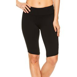Gaiam Womens Om Pedal Pusher Solid High Rise Yoga Shorts