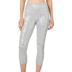 Gaiam Womens OM Quinn Rose Print Capri Leggings