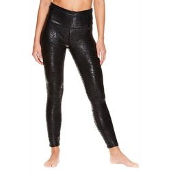 Gaiam Womens OM Solid Shimmer High Rise Leggings