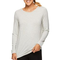Gaiam Womens Emma Lattice Back Long Sleeve Top